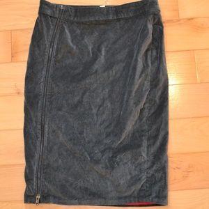 Love Hanna andersson velveteen zip skirt 12 gray